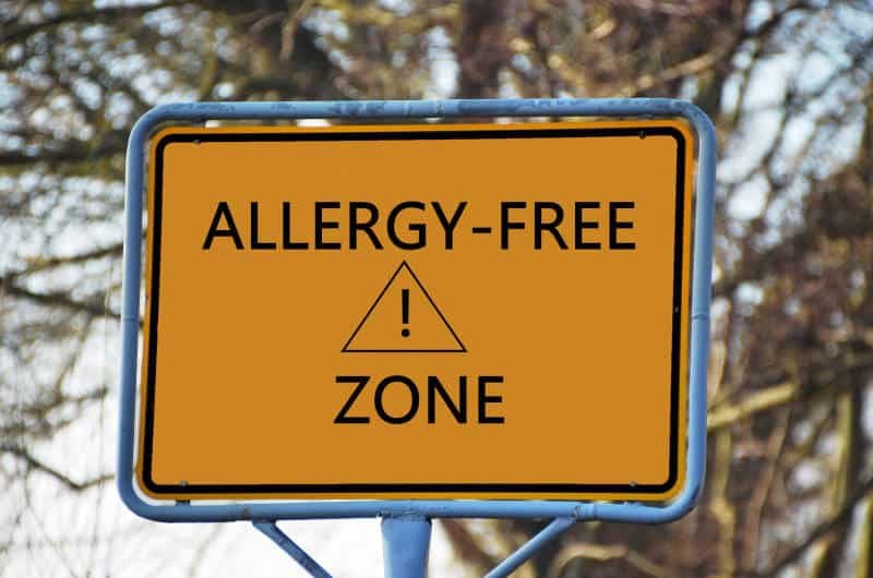 allergy-free-zone-sign