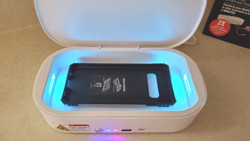 nuvomed-sterilizer-on-samsung s10-phone case